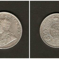 India British one rupee C 1914
