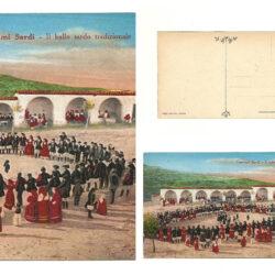 Cartolina Costumi Sardi Il ballo tradizionale