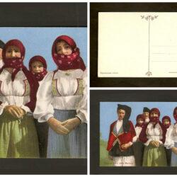 Cartolina costumi sardi della Baronia
