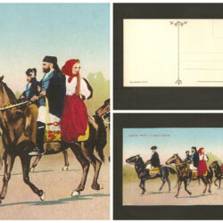 Cartolina Costumi Sardi Cavalcata Gallurese