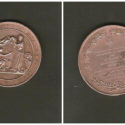 Medaglia commemorativa Bartolomeo Cristofori – cembaro – 1876