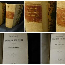 FR. Predari  Dizionario Biografico Universale – Milano Tipografia Guigoni – 2 vol. 1865-1867