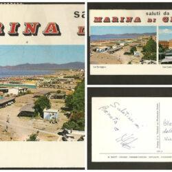 Cartolina Saluti da Marina di Grosseto La Spiaggia, Via Cadorna – formato piccolo rettangolare