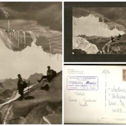 Cartolina Dolomiti La Marmolada, Particolare fra i Serracchi