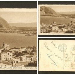 Cartolina Mondello-Lido (Palermo) Panorama da  Monte Gallo
