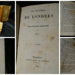 Les Mystères de Londres – Sir Francis Trolopp – Bruxelles Société Belge de Librairie 1844 – 7 volumi