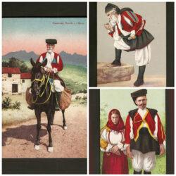 Lotto cartoline Costumi Sardi Oliena