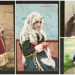 Lotto cartoline Costumi Sardi Osilo