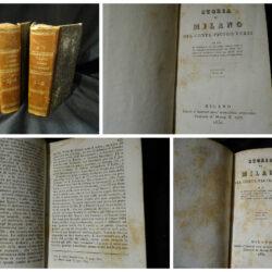 Storia di Milano del conte Pietro Verri – Milano Editore dell'Indicatore Lombardo – 1830 – 4 volumi in 2 tomi