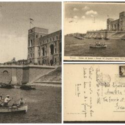 Cartolina Taranto Palazzo del Governo e Rotonda del Lungomare Vittorio Emanuele
