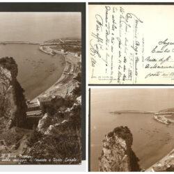 Cartolina Terracina Il Pisco Montano, Spiaggia di Levante, Porto Canale
