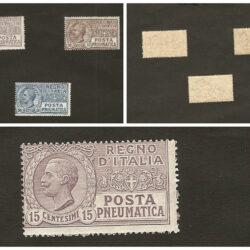 Regno d'Italia Posta Pneumatica 1913-23 Effigie di Vittorio Emanuele III