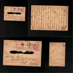 Cartolina Postale Prigionieri di guerra I Guerra Mondiale Campo di concentramento Mauthausen