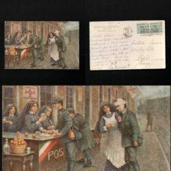 Cartolina Postale Posto di Conforto Venezia Mestre -1917