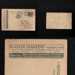 Intero pubblicitario Walter Martiny – 1920