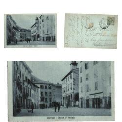 Cartolina Marradi Piazza le Scalelle