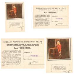 Cartolina Premio Serie Pinocchio – Cassa di Risparmio e depositi di Prato – Anni '50
