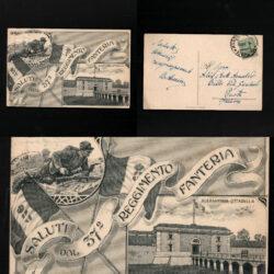 Cartolina Alessandria Cittadella – Reggimento Fanteria