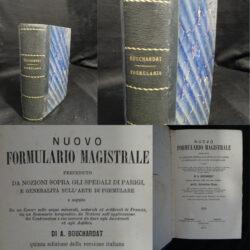 Nuovo formulario magistrale – A. Bouchardat – quinta edizione 1870
