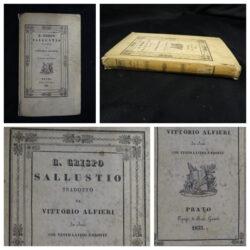 C.Crispo – Sallustio tradotto da Vittorio Alfieri – Prato tip. Ranieri Guasti 1832