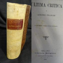 Ultima critica Ausonio Franchi – Milano Libreria Religiosa 1889