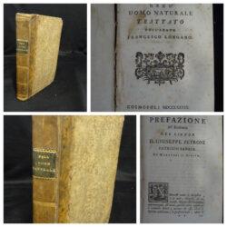 Dell'uomo naturale trattato dell'abate Francesco Longano – Cosmopoli 1778