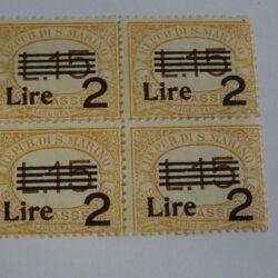 RSM 1936-39 Segnatasse 2L su 15 L arancio – Nuovi