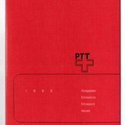 Album emissioni francobolli Svizzera 1988 -completo