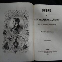 Opere di Alessandro Manzoni con un discorso preliminare di Niccolò Tommaseo – Volume Unico – Napoli Francesco Rossi 1852