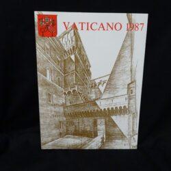 1987 VATICANO LIBRO FRANCOBOLLI – NUOVO TUTTE LE EMISSIONI // VATICAN OFFICIAL YEARBOOK NEW