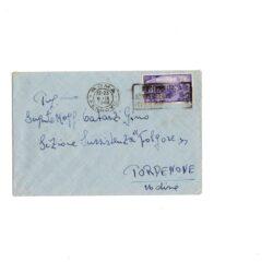 Lettera affrancata con 50 lire Violetto 1948