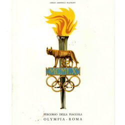 Libretto XVII Olimpiade Percorso della Fiaccola