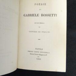 Poesie di Gabriele Rossetti – Napoli Rondinella 1862