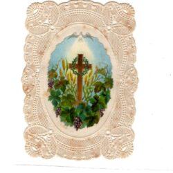 Santino trinato, traforato, merlettato con Croce – 19°- 20° secolo