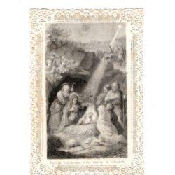 Santino trinato, traforato, merlettato – Natale del Messia Grotta di Betlemme