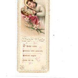 Santino trinato, traforato, merlettato – Luigi Casto Patrono della gioventù