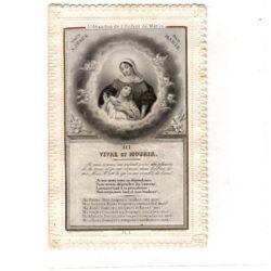 Santino trinato, traforato, merlettato – L'Abandon de l'enfant de Marie