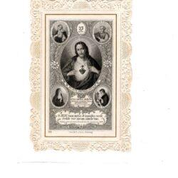 Santino trinato, traforato, merlettato –Jesù, Maria, Joseph