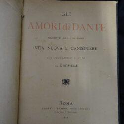 Gli amori di Dante raccontati da lui medesimo (Vita nuova e canzoniere) prefazione e note G. Stiavelli – Roma Edoardo Perino 1888