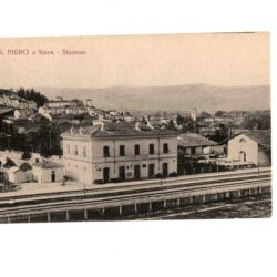 Cartolina S. Piero a Sieve – Stazione