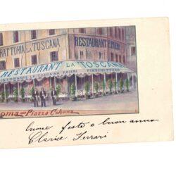 Cartolina Trattoria la Toscana – Roma Piazza Colonna