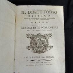 Volume unico: Direttorio mistico e Discernimento de'spiriti – Scaramelli – Simone Occhi Venezia