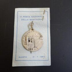 Medaglia Corpo Forestale dello Stato, VI festa Nazionale della Montagna 1957, Alagna Valsesia argento 800