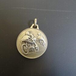 Medaglia Rallye – Uno a Erre – anni 70 ca. – argento 800 – moto