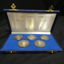 Giubileo – 75 anni FC Bayer Monaco – Jubilaumspragung 75 Jahre FC Bayer Munchen 1900-1975 5 medaglie AG