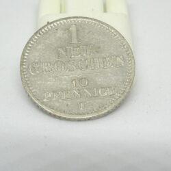 Germania 1 neu groschen 10 pfenninge 1855 F