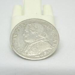 Stato Pontificio Pio IX 5 soldi 1867 (25 cent)