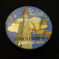 Scatola pubblicitaria Antica Fabbrica Parenti Siena – Marzapane – metà '900
