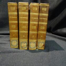 Collezione portatile di classici italiani Ariosto L'Orlando furioso Firenze Borghi & C. 1827 – Vol.I-IV