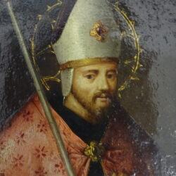 Scuola Lombarda XVII sec. Ritratto di Vescovo – Olio su rame